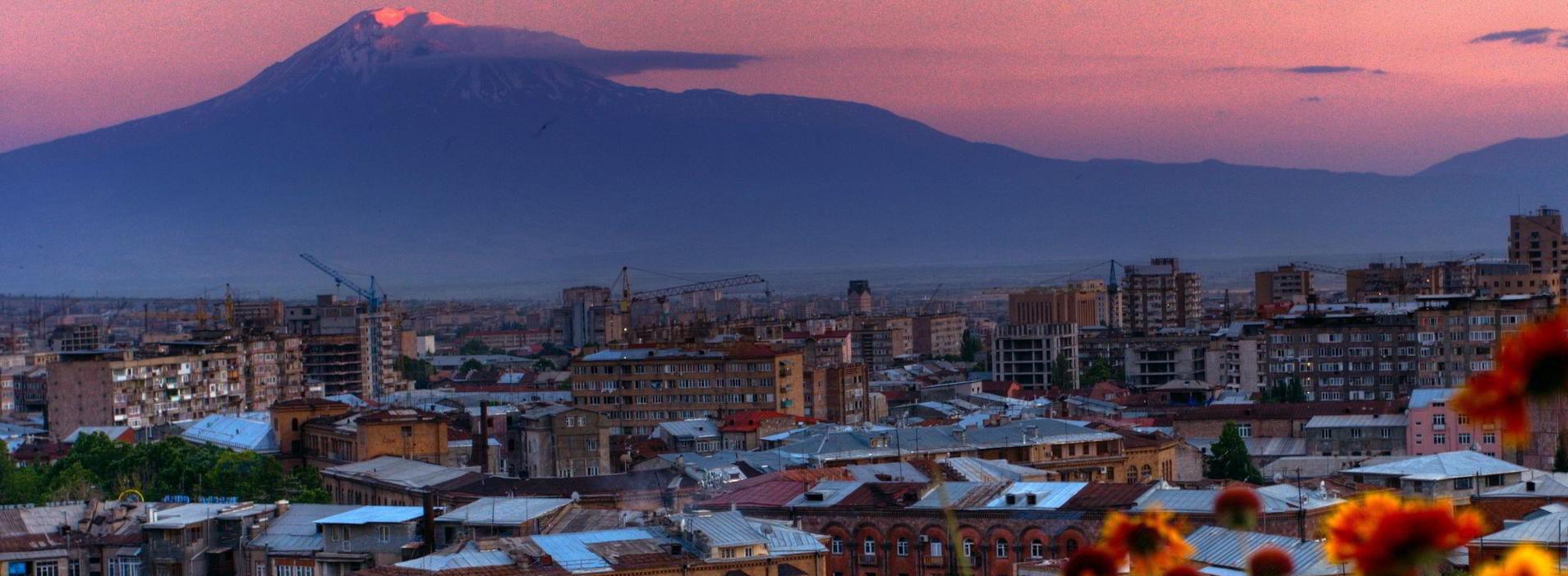 Фото Еревана вечером